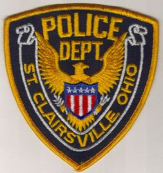 St. Clairsville Police Patch (gold edge) (OH)