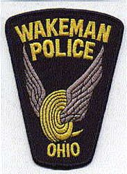 Wakeman Police Patch (wings) (OH)