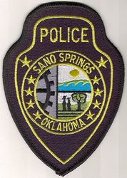 Sano Springs Police Patch (OK)