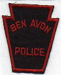 Ben Avon Police Patch (twill)(PA)
