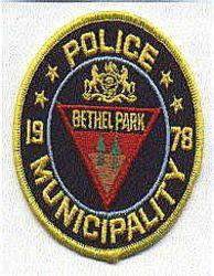 Bethel Park Municipality 1978 Patch (PA)
