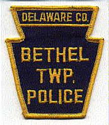 Bethel Twp. Delaware Co. Police Patch (PA)