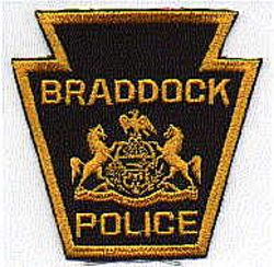 Braddock Police Patch (black/gold, twill) (PA)