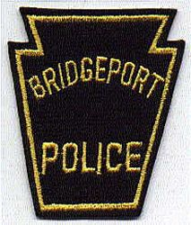 Bridgeport Police Patch (gold, felt) (PA)