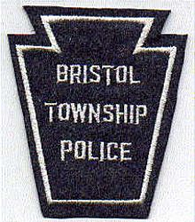Bristol Twp. Police Patch (white trim, felt) (PA)