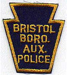 Bristol Boro Aux. Police Patch (gold/blue) (PA)