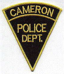 Cameron Police Patch (black triangle) (WV)