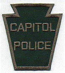 Capitol Police Patch (green/large) (PA)