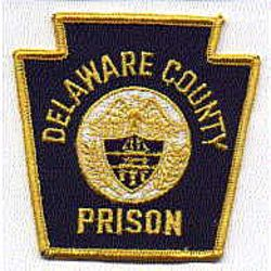Delaware Co. Prison Patch (center shield) (PA)