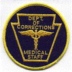 Dept. of Corrections Medical Staff Patch (PA)