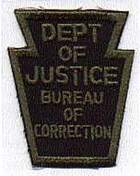 Dept. of Justice Bureau of Corrections SWAT Patch (PA)