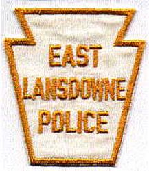 East Lansdowne Police Patch (gold/white) (PA)