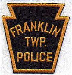 Franklin Twp. Police Patch (keystone shape, twill) (PA)