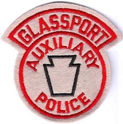 Glassport Aux. Police Patch (felt)(PA)