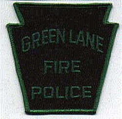 Green Lane Fire Police Patch (PA)