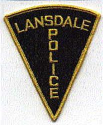 Lansdale Police Patch (black) (PA)