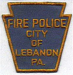 Lebanon Fire Police Patch (PA)