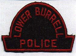 Lower Burrell Police Patch (black/red, twill) (PA)