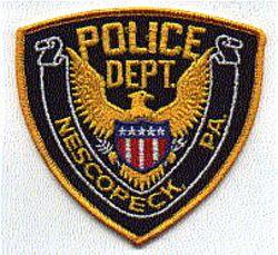 Nescopeck Police Patch (gold edge) (PA)