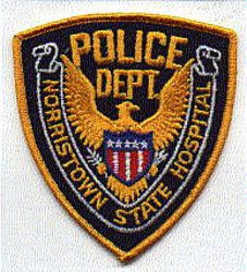 Norristown State Hospitol Police Patch (gold edge) (PA)