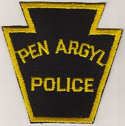 Pen Argyl Police Patch (black/yellow, twill) (PA)