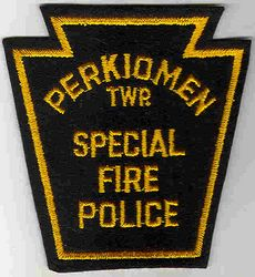 Perkiomen Twp. Special Fire Police Patch (felt) (PA)