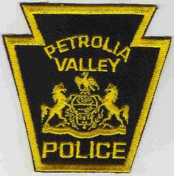Petrolia Valley Police Patch (PA)