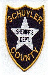 Misc: Schuyler Co. Sheriffs Dept. Patch (blue/gold)
