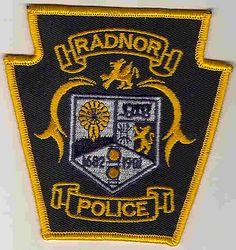 Radnor Police Patch (gold, crest) (PA)