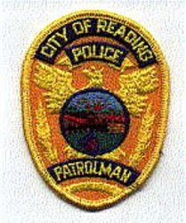 Reading Patrolman Police Patch (badge size) (PA)