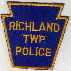 Richland Twp. Police Patch (yellow edge, keystone) (PA)