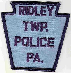 Ridley Twp. Police Patch (dark blue letters/edge) (PA)