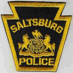 Saltsburg Police Patch (black/yellow) (PA)