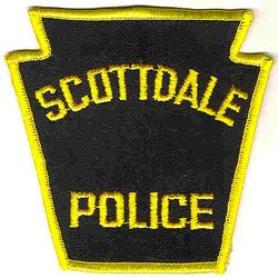 Scottdale Police Patch (yellow edge) (PA)