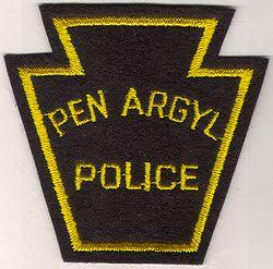 Pen Argyl Police Patch (black/yellow, felt) (PA)