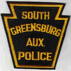 South Greensburg Aux. Police Patch (felt) (PA)