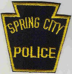 Spring City Police Patch (PA)