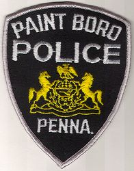 Paint Boro Police Patch (grey edge) (PA)