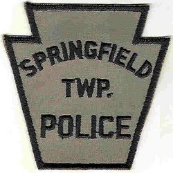Springfield Twp. Police Patch (black edge) (PA)