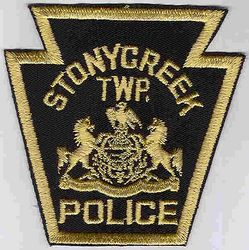Stonycreek Twp. Police Patch (black/tan) (PA)