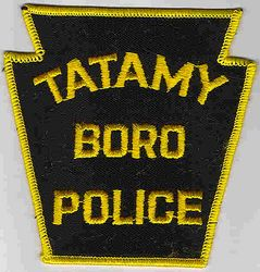 Tatamy Boro Police Patch (yellow edge) (PA)