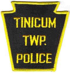 Tinicum Twp. Police Patch (yellow edge, keystone) (PA)