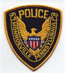 Monroeville Police Patch (gold) (PA)