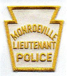 Monroeville Lieutenant Police Patch (white/yellow) (PA)