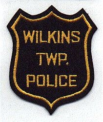 Wilkins Twp. Police Patch (black, felt) (PA)