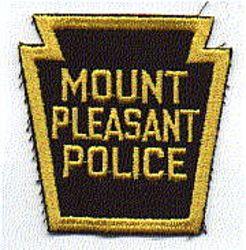 Mt. Pleasant Police Patch (keystone, cut edge) (PA)