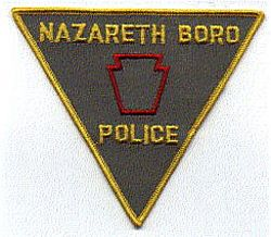 Nazareth Boro Police Patch (yellow edge) (PA)