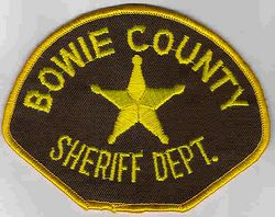 Sheriff: TX. Bowie Co. Sheriffs Dept. Patch