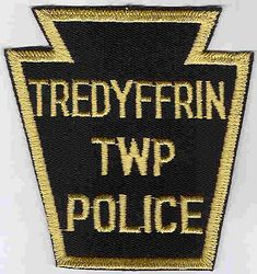 Tredyffrin Twp. Police Patch (black/tan) (PA)