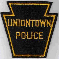 Uniontown Police Patch (yellow edge, felt) (PA)